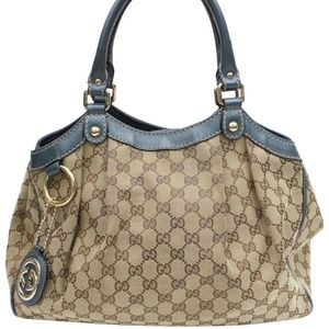 Gucci Blue Monogram Signature Sukey Hobo 868411